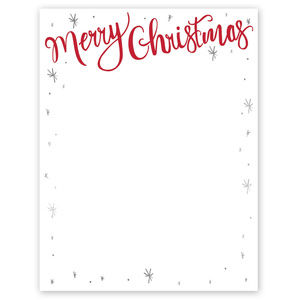 Other - Holiday Merry Christmas Premium Letterhead paper